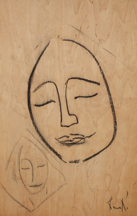 Portrait on Plywood